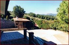 hintere Terrasse mit überdachtem Gill und Sitzplätzen, Ferienhaus Santini, Marina di Campo, Insel Elba