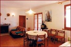 30m² Wohnzimmer mit Kamin, Ferienhaus Santini, Marina di Campo, Insel Elba