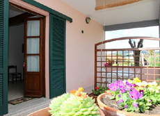 Terrasse, Ferienwohnung Benedetta, Marina di Campo, Insel Elba